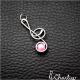 Přívěsek Houslový klíč - růžový