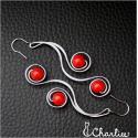 Tepané spirály - červené