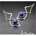 Provlékací náušnice - Lapis lazuli