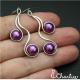 Kratší tepané spirály - fialové