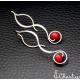 Provlékací spirály (kratší) - Korál červený