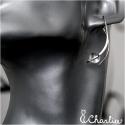 Provlékací náušnice - Křištál (delší)