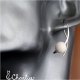 Provlékací náušnice - Korál bílý (kratší)