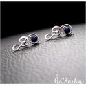 Náušnice Houslový klíč - Lapis lazuli