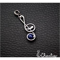 Přívěsek Houslový klíč - Lapis lazuli