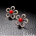 Pecičky Květy - červené (korál)