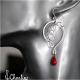 Náušnice - Korál červený