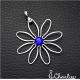 Přívěsek Modrý květ