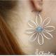 Náušnice Modré květy - Akvamarín