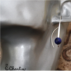 Provlékací náušnice S Lapis lazuli