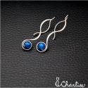 Provlékací spirály (kratší) - Modrý achát