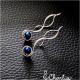 Provlékací spirály (kratší) - Hematit modrý
