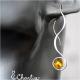 Provlékací spirály (kratší) - Citrín
