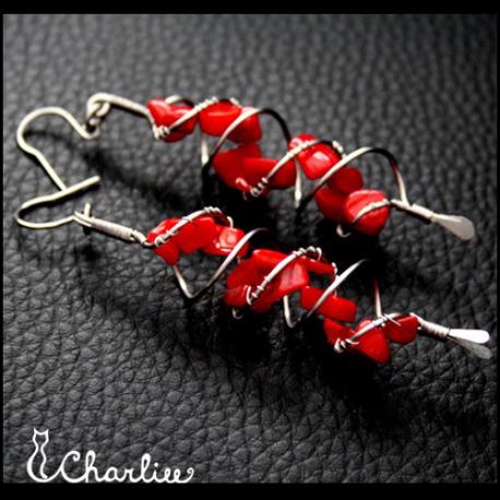 Dvojspirálové - Korál červený