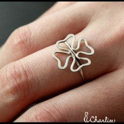 Tepaný prsten Čtyřlístek