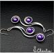 Tepané spirály - fialové